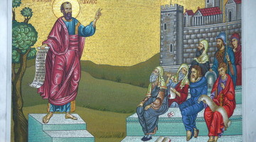 The Apostle Paul preaching to the Bereans