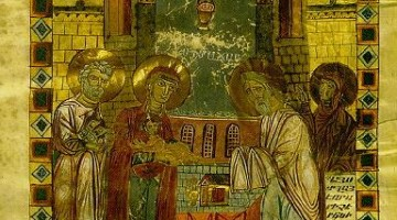 An Armenian icon of the Meeting of Christ in the Temple