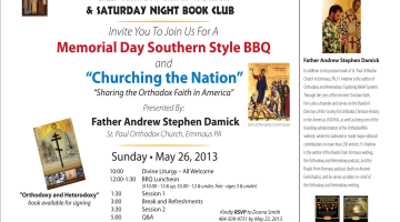 """Churching the Nation: Sharing the Orthodox Faith in America"" near Atlanta on May 26"
