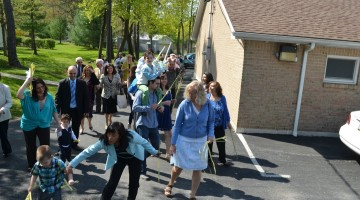 Palm Sunday procession in Emmaus