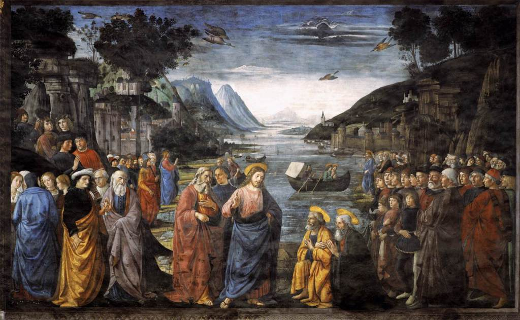 """The Calling of the Apostles"" (1481), by Domenico Ghirlandaio (Wikimedia Commons)"