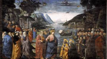 """The Calling of the First Apostles"" (1481), by Domenico Ghirlandaio (Wikimedia Commons)"