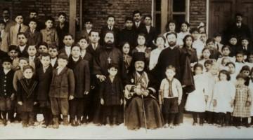 St. Raphael of Brooklyn with parishioners in Charleston, West Virginia