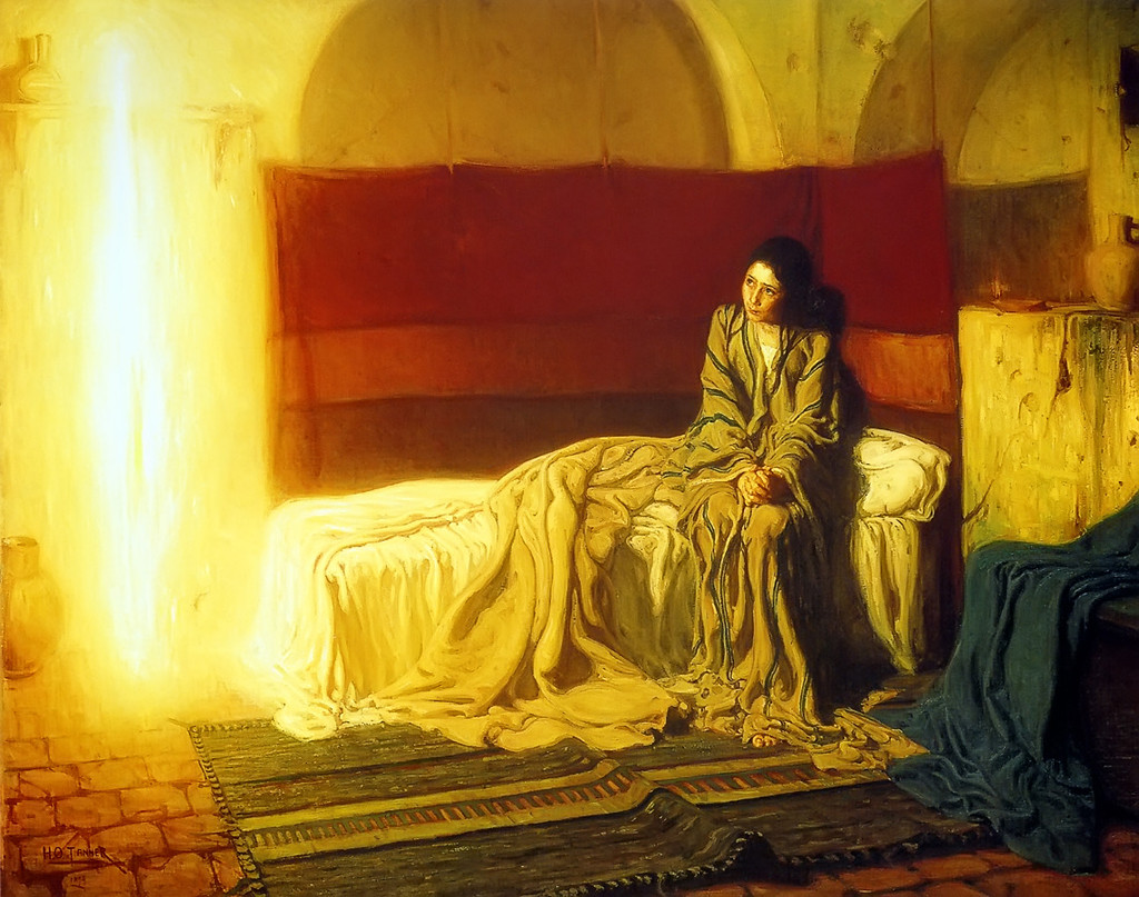 The Annunciation (1898), by Henry Ossawa Tanner (From Wikimedia Commons)