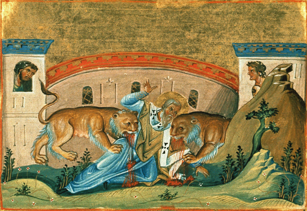 The Martyrdom of St. Ignatius of Antioch (From Wikimedia Commons)