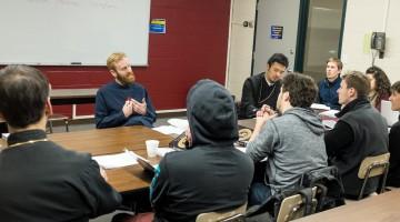 Fr. Matthew teaching at Hellenic College