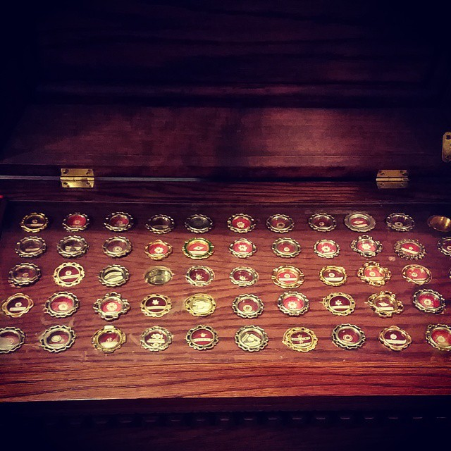 The relics of 55 saints at the monastic chapel at St. Tikhon's Monastery