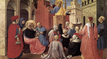 St. Peter Preaching in the Presence of St. Mark, by Fra Angelico (1433)