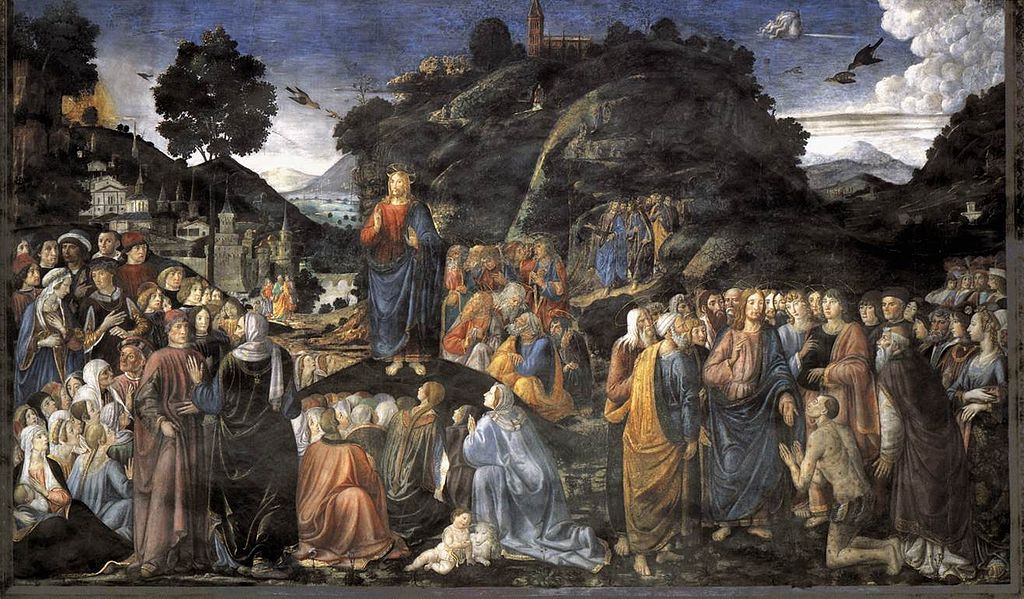 The Sermon on the Mount (ca. 1481-2), by Cosimo Roselli (From Wikimedia Commons)