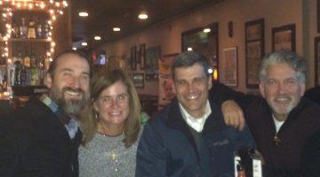 Friends at dinner before Fr Tom Hopko funeral