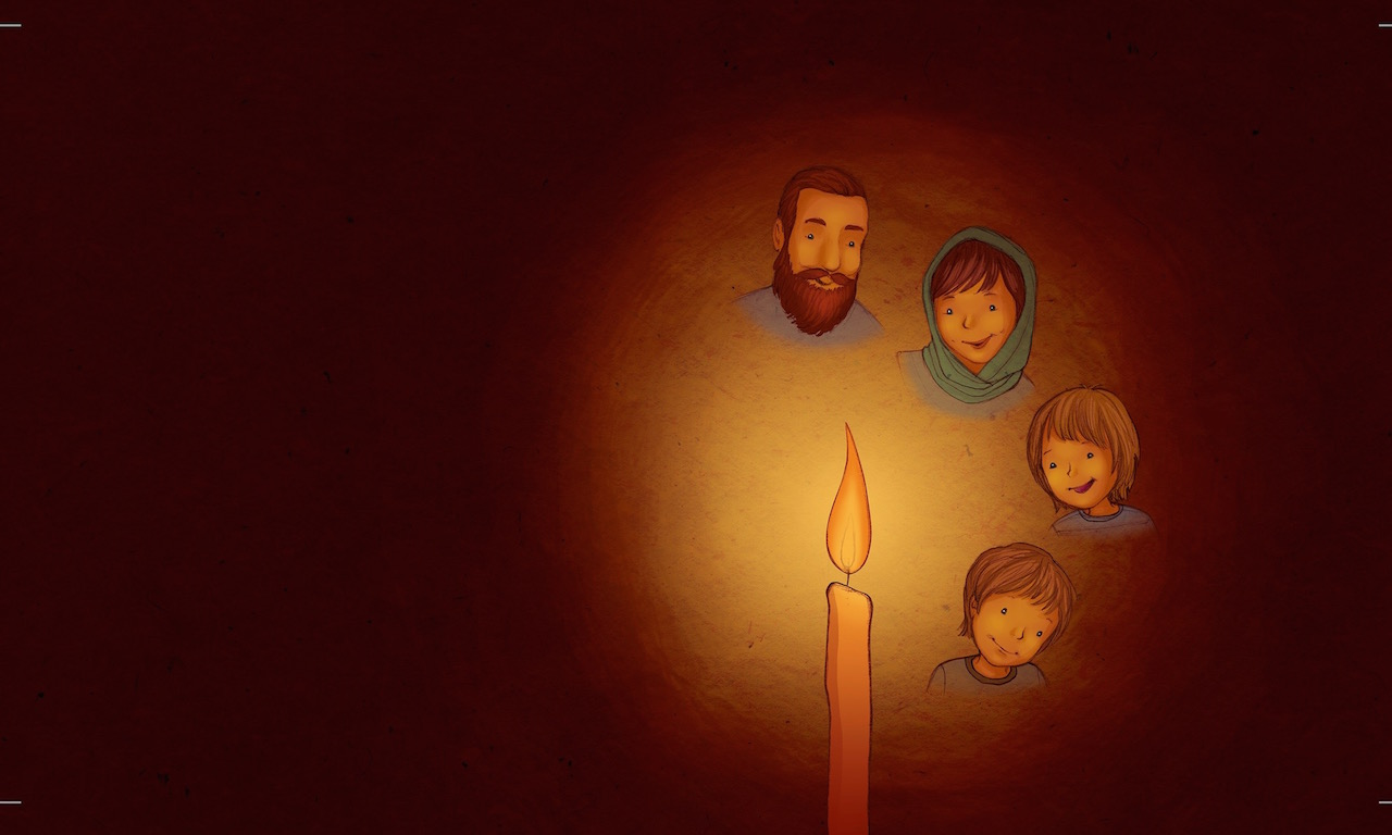 Illustration from In the Candles Glow family and candle