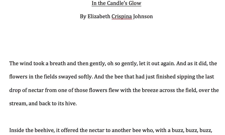 Original manuscript of In the Candles Glow