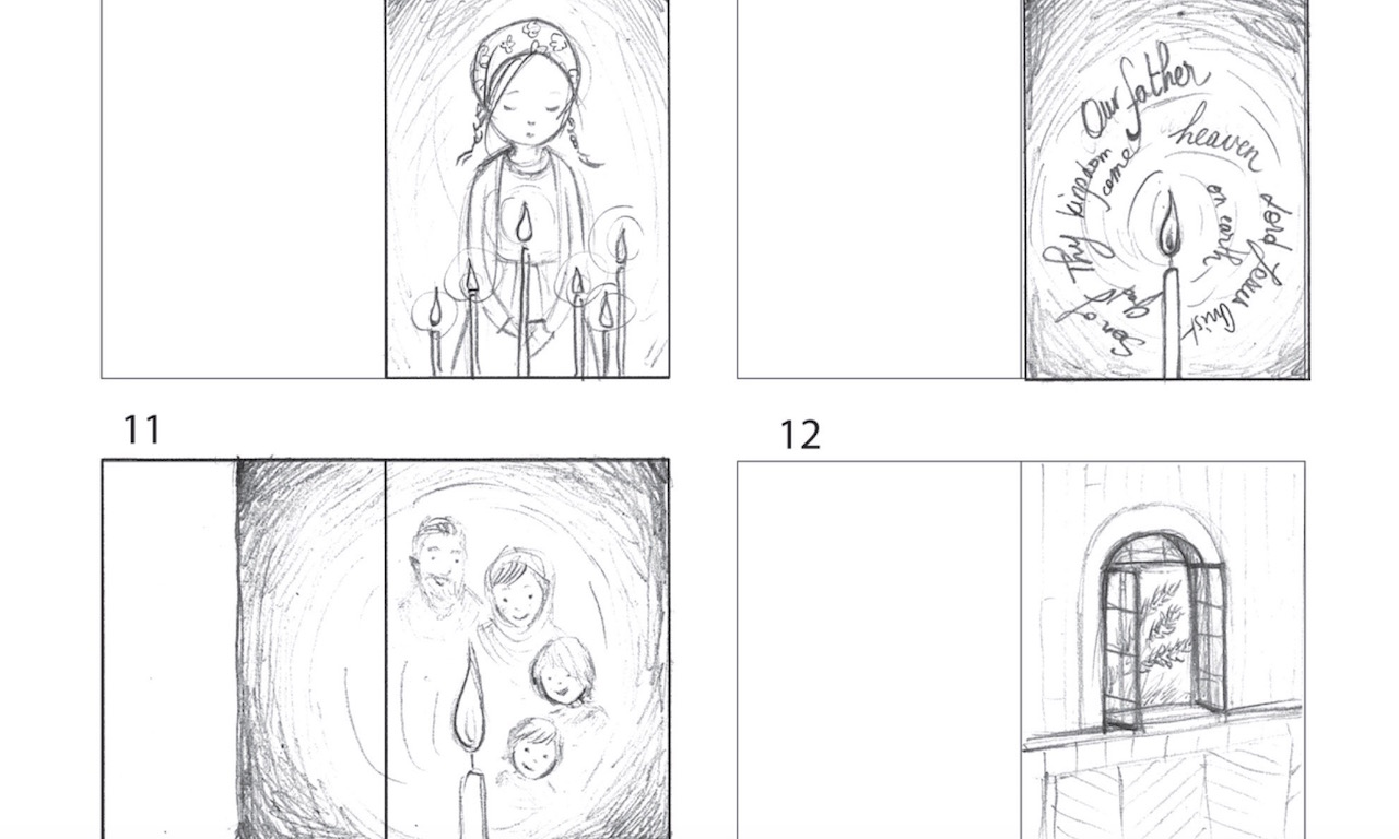 Storyboard from In the Candles Glow