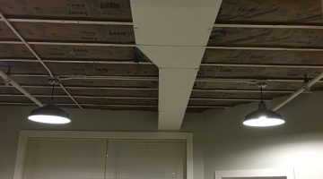 New ceiling being installed