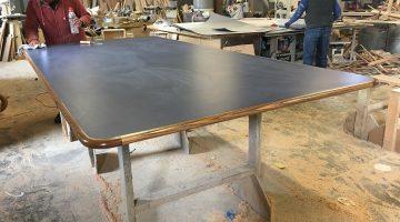 Custom table being built