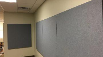 New audio panels on walls