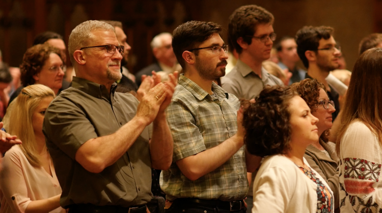 Standing ovation for Chamber Choir of St. Tikhon's Monastery