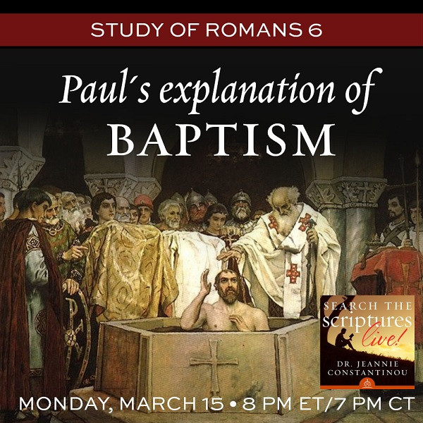Paul's explanation of baptism