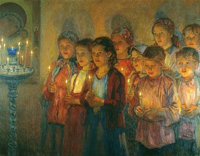 nikolai_bogdanov-belsky_in_church