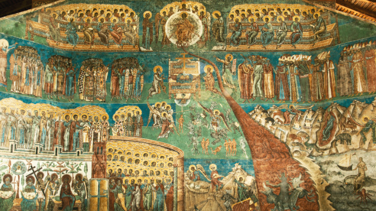 Fresco of the Last Judgment (Voroneț Monastery, Romania)
