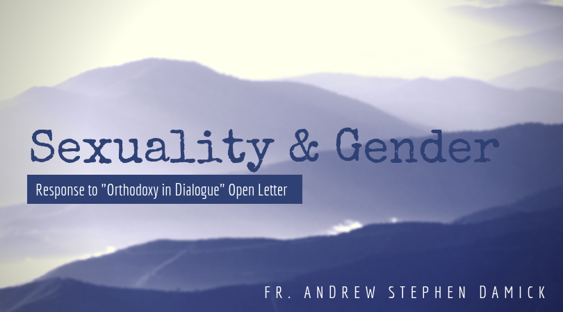 """Sexuality and Gender: Response to """"Orthodoxy in Dialogue"""" Open Letter – Orthodoxy and Heterodoxy"""