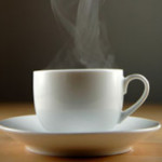 Cup of coffee-steaming-sq