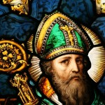 St Patrick stained glass detail