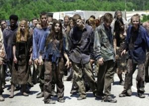 Is it a zombie horde or just a lot of stupid people staring at us? And which one is scarier?