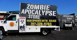 That's right. We've got a whole store of zombie stuff here in Vegas. Because I guess Las Vegas isn't weird enough already?