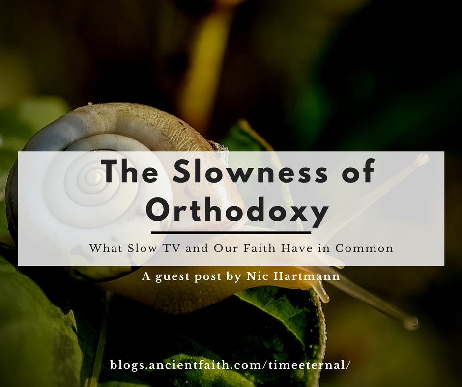 A snail in the background; what Slow TV and the Orthodox Faith have in Common