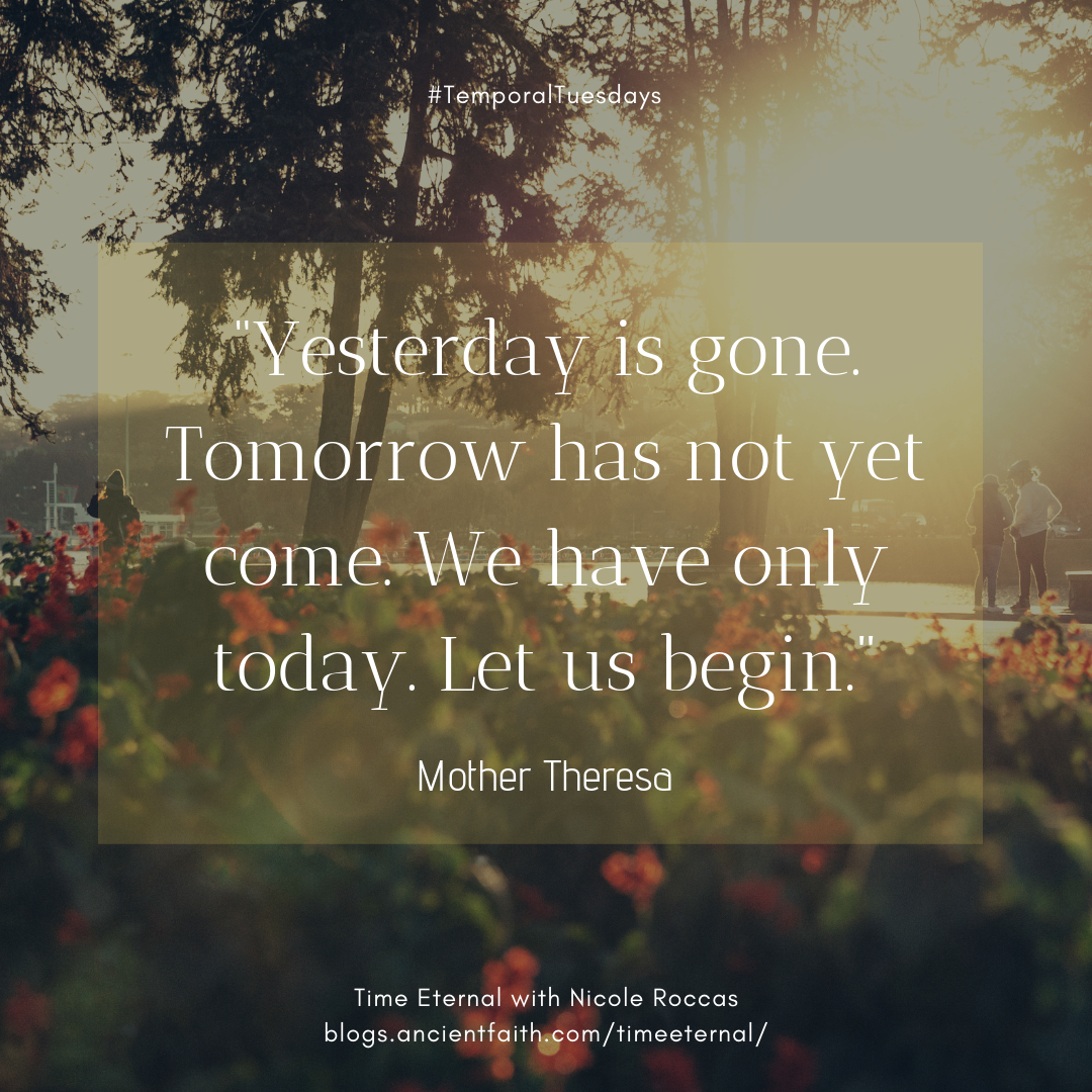 """Yesterday is gone. Tomorrow has not yet come. We have only today. Let us begin."" Mother Theresa"