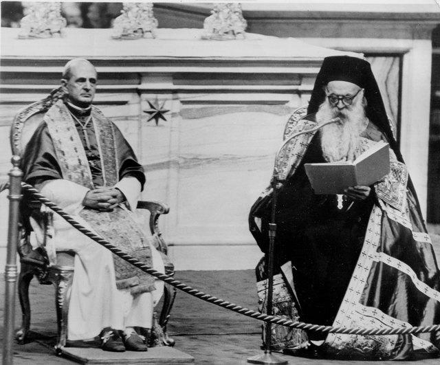 Pope Paul VI and Ecumenical Patriarch Athenagoras